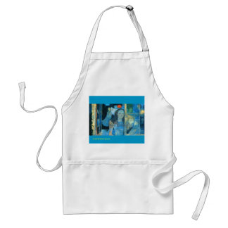 charming apron with lovely image