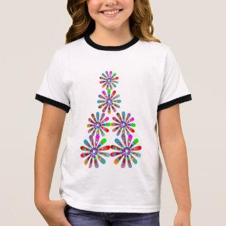 Charming BABY Girly Festive Prints Ringer T-Shirt