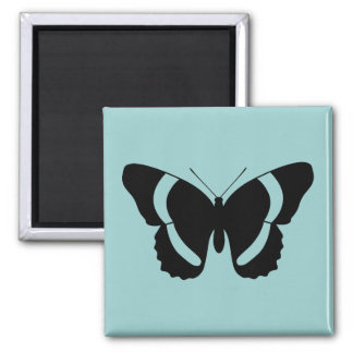 Charming Black Admiral Butterfly Print Square Magnet