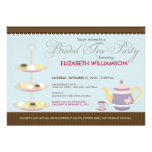 Charming Bridal Tea Party Invitation (blue)