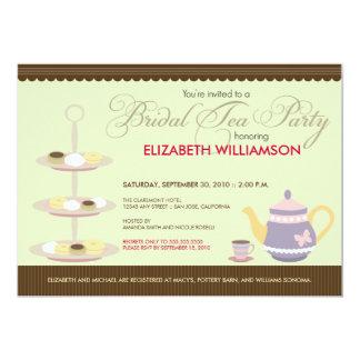 "Charming Bridal Tea Party Invitation (mint) 5"" X 7"" Invitation Card"
