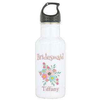 Charming Bridesmaid Floral Bouquet 532 Ml Water Bottle