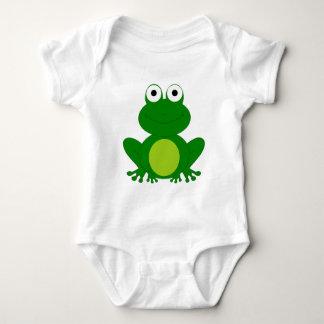 Charming cartoon frog baby bodysuit