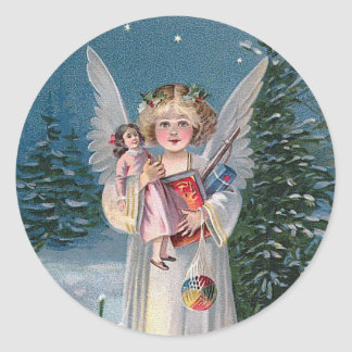 Charming Christ Child Round Sticker