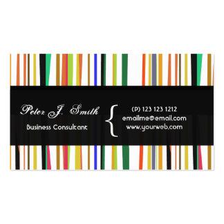 Charming Color Pop Versatile Design Pack Of Standard Business Cards