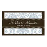 Charming Damask Wedding Web Business Card (blue)
