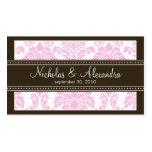 Charming Damask Wedding Web Business Card (pink)