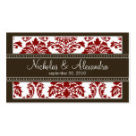 Charming Damask Wedding Web Business Card (red)