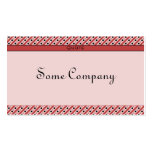 Charming Dots And Stripes (Strawberries) Pack Of Standard Business Cards
