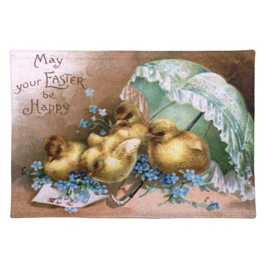 Charming Easter Chicks Place Mats