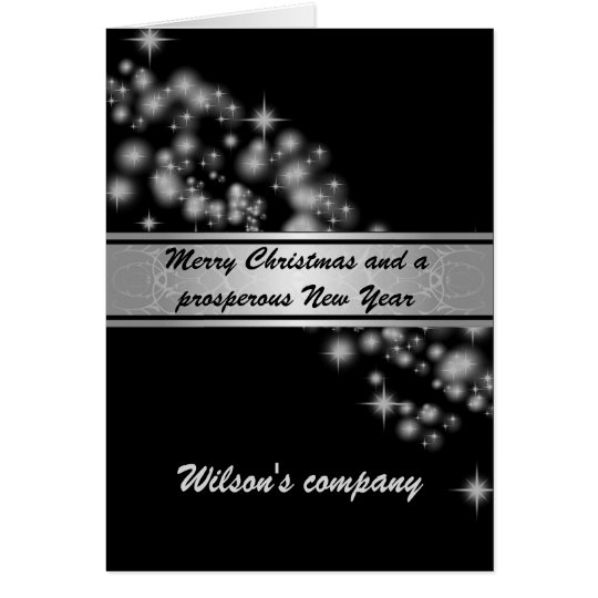Charming elegant sparkles corporate calendar 2018 card