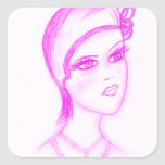 Charming Flapper in Hot Pink Sticker