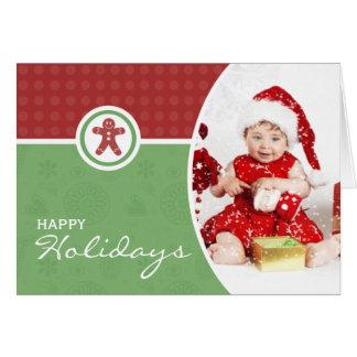 Charming Folded Photo Christmas Greeting Card