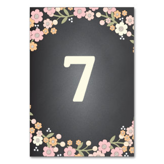 Charming Garden Floral Wedding Table Number Card Table Cards