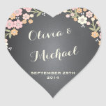 Charming Garden Floral Wreath Personalised Sticker