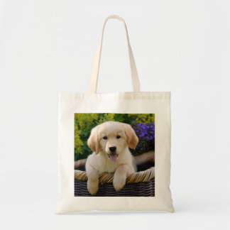 Charming Goldie Dog Puppy, cotton Tote Bag