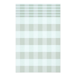 Charming Green Checkered Stationery
