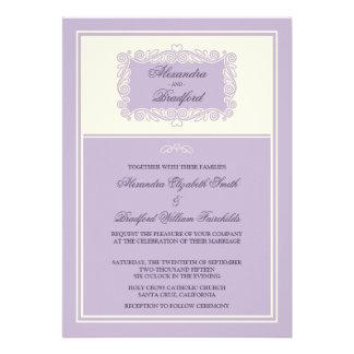 Charming Heart Frame Wedding Invitation (lilac)