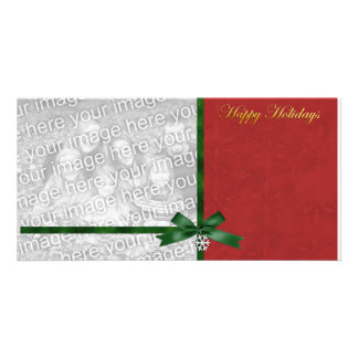 Charming Holidays Photo Template Personalized Photo Card