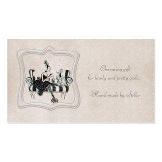 Charming lady pack of standard business cards