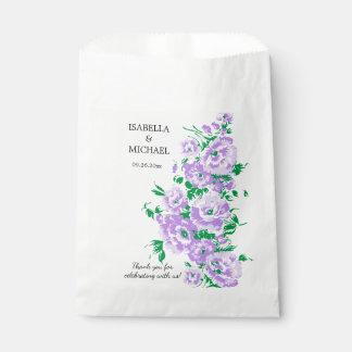 Charming Lavender Flower Wedding Favour Bags
