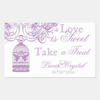 Charming Liliac Birdcage Candy Buffet Sticker