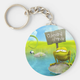 Charming prince basic round button key ring