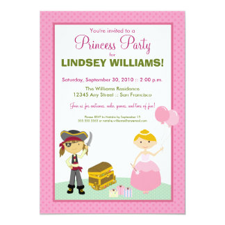 Charming Princess & Pirate Party Invitation