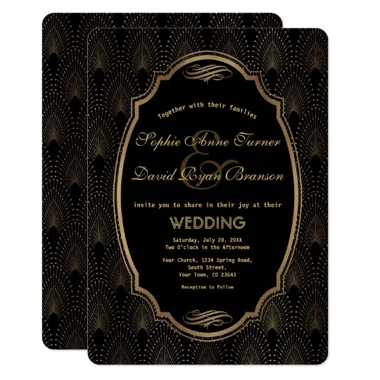 Charming Roaring 20s Great Gatsby Art Deco Wedding