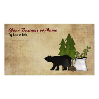 Charming Rustic Mountain Country Silhouette Bear Pack Of Standard Business Cards