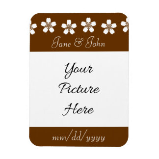 Charming Sakura in Chocolate Save-the-Date Magnet