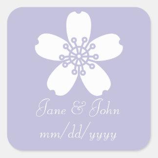 Charming Sakura in Lavender Sticker