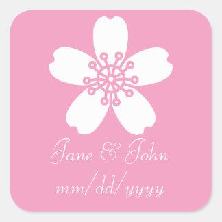 Charming Sakura in Petal Pink Sticker