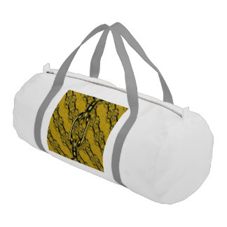 charming shiny chains golden (I) Gym Duffel Bag