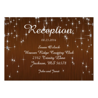 Charming Star Struck | Chocolate Brown Pack Of Chubby Business Cards