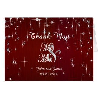 Charming Star Struck Wedding | Burgundy Red Card