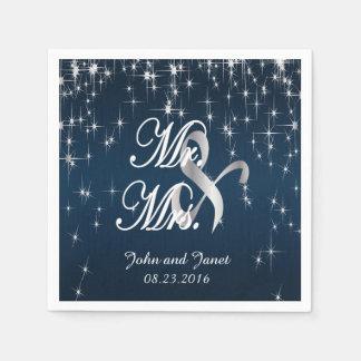 Charming Star Struck Wedding | Navy Blue Disposable Napkin
