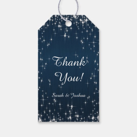Charming Star Struck Wedding | Navy Blue Gift