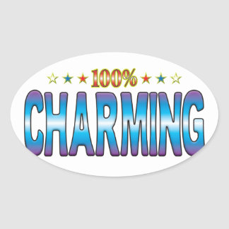 Charming Star Tag v2 Oval Stickers