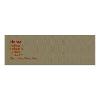 Charming tiny brown flowers with long heart on pin business card template