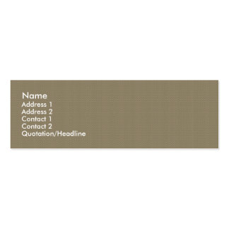 Charming tiny brown flowers with long heart on pin business card