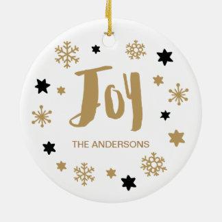 Charming Trendy Joy Holiday Christmas Ornament