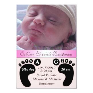 Charming & Unique Baby Birth Announcement