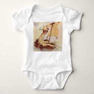 Charming Vintage Peter Pan on nest raft Baby Bodysuit