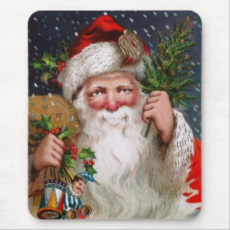 Charming Vintage Santa Claus Mouse Mat