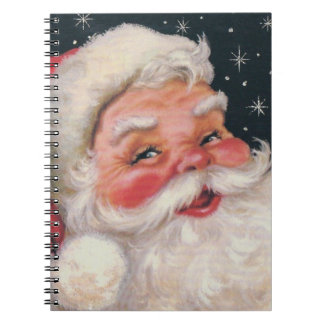 Charming Vintage Santa Claus Notebooks