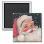 Charming Vintage Santa Claus Square Magnet