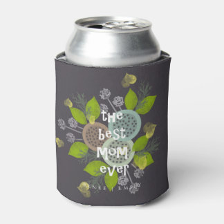 CHARMING WATERCOLOUR FLOWERS FOR MOM  MONOGRAM CAN COOLER