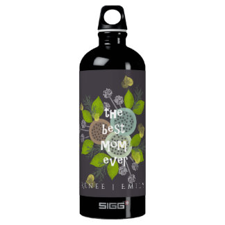 CHARMING WATERCOLOUR FLOWERS FOR MOM  MONOGRAM SIGG TRAVELLER 1.0L WATER BOTTLE