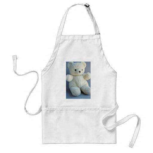 Charming White teddy bear Apron
